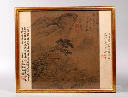 Ye Liu Long; Chinese Ink Album Painting on Silk