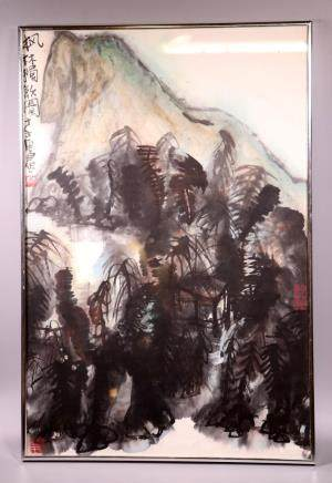 Chinese Ink & Color Painting on Paper; Signed