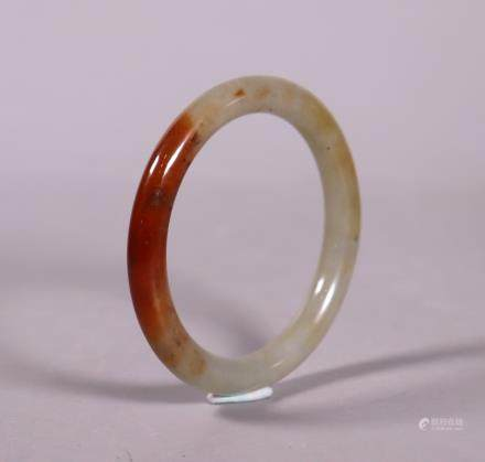 Chinese Antique Natural Jadeite Bangle