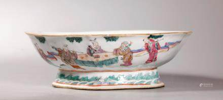 Chinese 19C Famille Rose 8 Immortal Porcelain Bowl