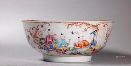 Chinese 18 Century Famille Rose Porcelain Bowl