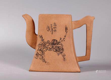 Chinese Light Clay Yixing Teapot