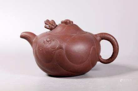 Chinese Yixing Movable Dragon & Tongue Teapot