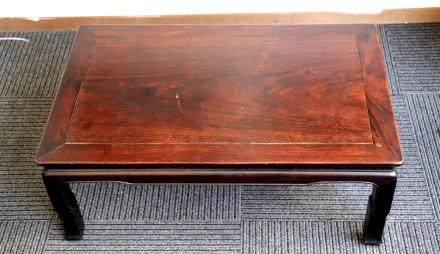 Chinese Early 20 C Hard Wood Kang Table