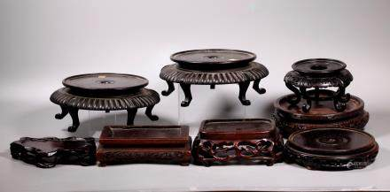 8 Chinese Antique Hardwood Stands