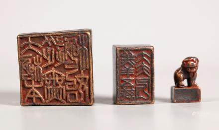 Chinese Ming Dynasty Bronze Set 3 Nesting Seals
