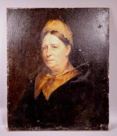 American School Late 19 C Female Oil Portrait