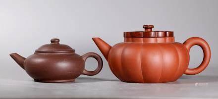 2 Chinese 19 Century Yixing Teapots