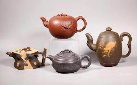 4 Good Chinese Yixing Teapots