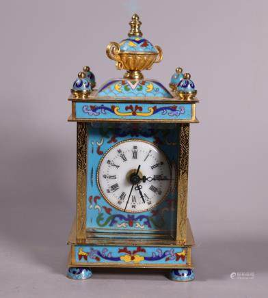 Chinese Cloisonne & Enamel Carriage Clock