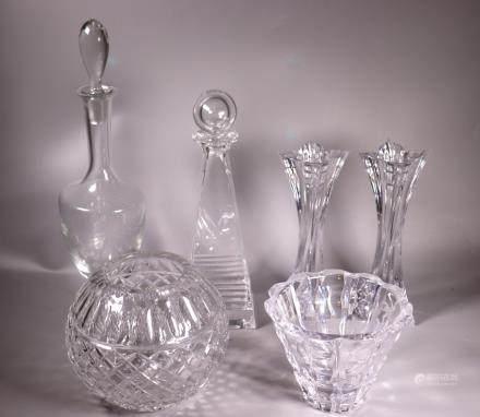 Frank Lloyd Wright Tiffany Decanter Orrefors Etc