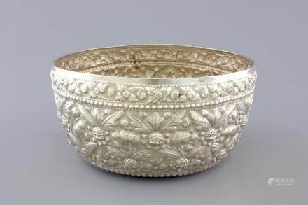 An Indonesian yogya silver bowl, 19th C.