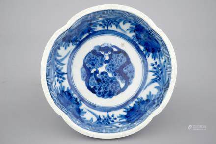 A Japanese blue and white decorated bowl, 17/18th C.