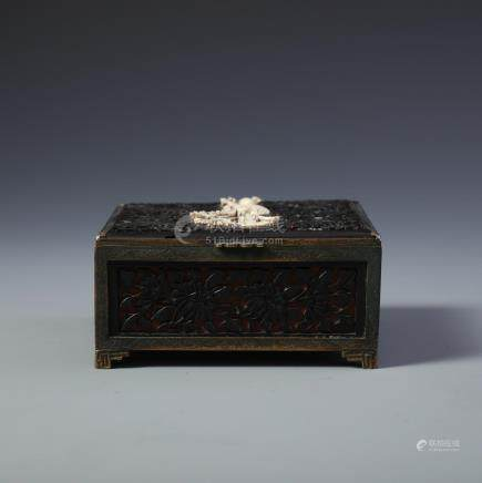 A Finely Carved Chinese Lacquer and Cinnabar