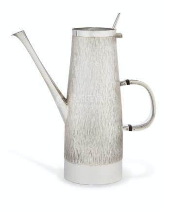 AN ELIZABETH II SILVER COFFEE POT