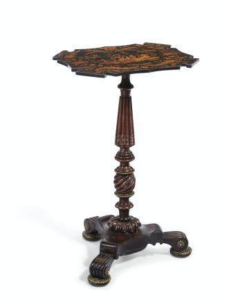 A REGENCY INDIAN ROSEWOOD STAND