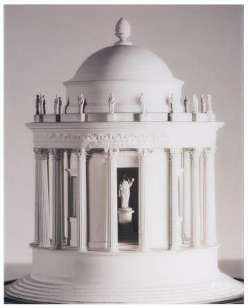 A LARGE-SCALE PHOTOGRAPH OF A MODEL OF THE TEMPLE OF VESTA FROM THE SIR JOHN SOANE COLLECTION