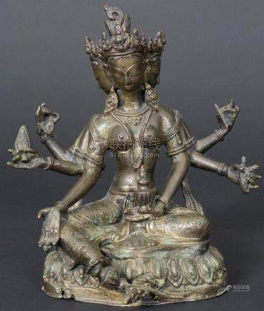 Dreiköpfige-Tara, Ushnishavijaya, Tibet, wohl 18./19. Jh.