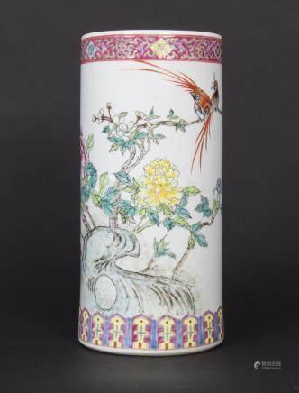 Porzellan-Vase / A Lidded Vase, China, 20. Jh.