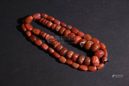 Chinese Qing Dynasty String fo Agate