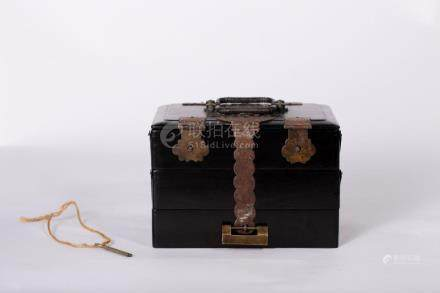 Chinese Bone and Wooden Mahjong box