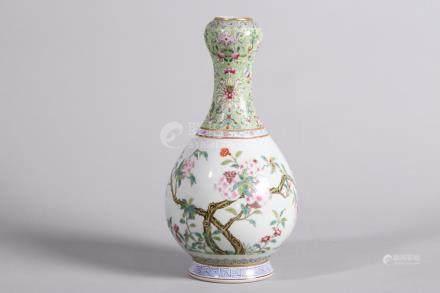 Chinese Famille Rose Porcelain Bottle
