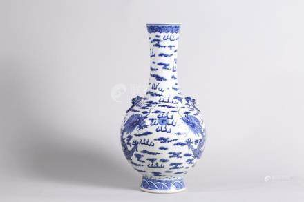 Chinese Blue and white bottle