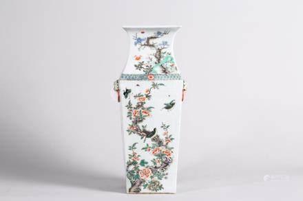 Chinese Famille verte bottle