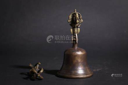 Chinese Bronze & Wood Instruments used in Buddhist or Taoist