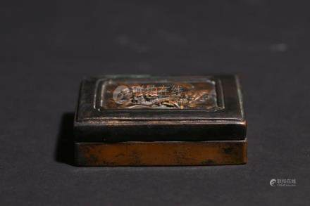 Chinese Bronze Gold Gilede Box