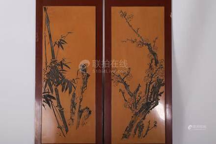 Chinese Wood Screen