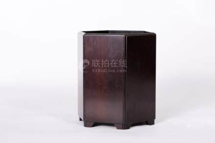 Chinese Redwood Brush Pot