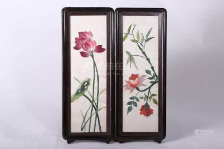Chinese Porcelain Lotus screen