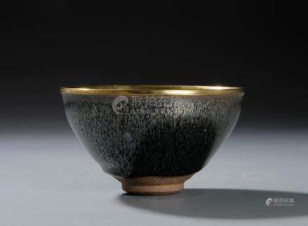 Chinese Chien-yao 'Silver-Streak' Bowl