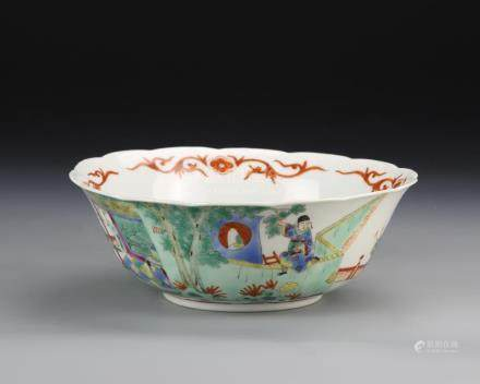 Chinese Famille Rose Lobed Bowl