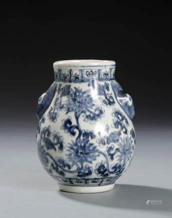 Chinese Blue and White Baluster Jar