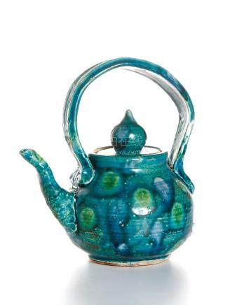 Chinese Flambe-Glazed Teapot