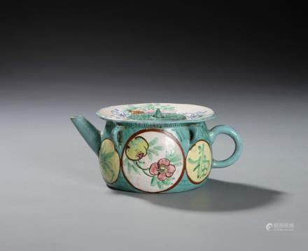 Chinese Enameled Teapot