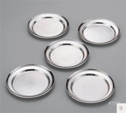 二代秦藏六 白银菓子器 (五枚)