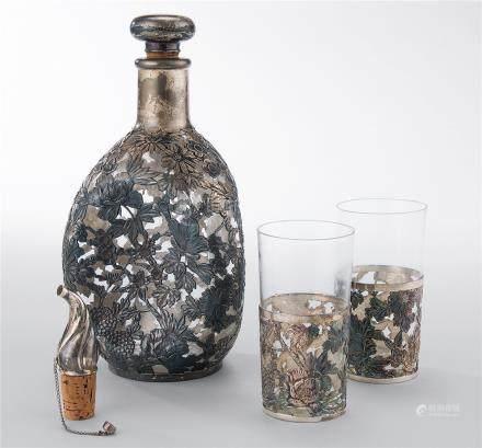 花卉纹包银酒器 (一组)