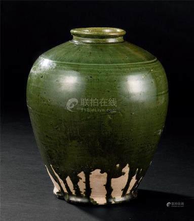 辽 绿釉罐