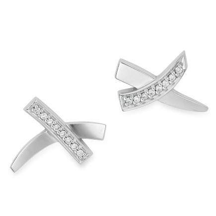 0.16 CARAT DIAMOND KISS EARRINGS, PALOMA PICASSO FOR