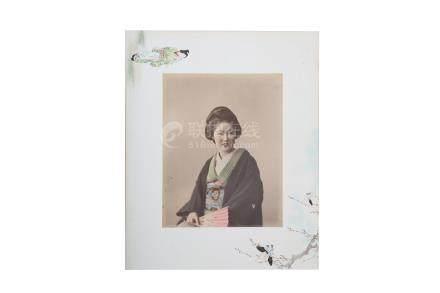A JAPANESE LACQUER PHOTOGRAPH ALBUM.
