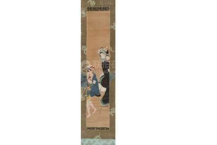 A JAPANESE HANGING SCROLL ATTRIBUTED TO TOENSAI KANSHI.