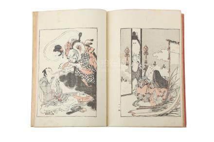 A SET OF FIVE JAPANESE ILLUSTRATED BOOKS BY ICHIKAWA KANSAI.