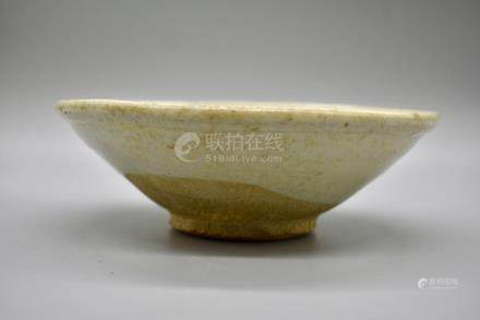 A Small White Glazed Wide sided Tea bowl
