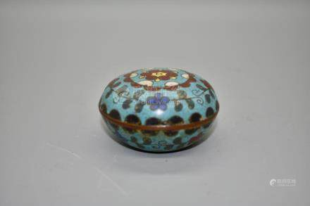 A small ming dynasty cloissone enamel bow and cover