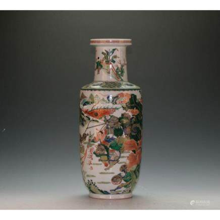 Five Color Porcelain Vase