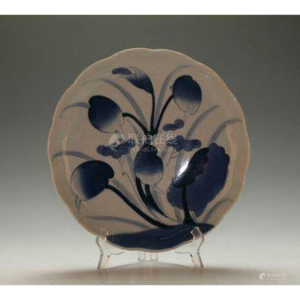 Japanese Blue and White Plate