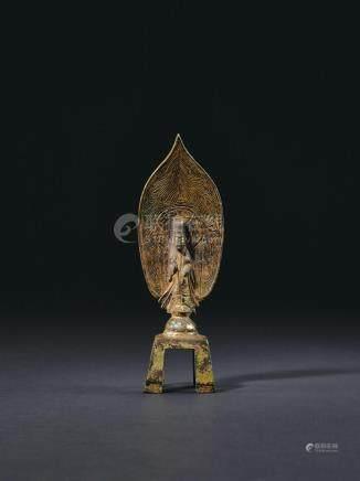 隋 铜鎏金菩萨立像